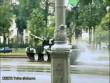 Tăng 60 tấn bất ngờ trượt dài giữa đường mưa tại Belarus