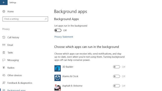Hướng dẫn tắt ứng dụng chạy ngầm trên Windows 10 bằng một cú click chuột - 2