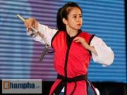 """Hot girl Châu Tuyết Vân quyết  """" gặt """"  2 HCV SEA Games"""