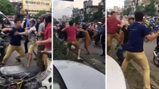"""Trai Tây """"1 chọi 2"""" với đối thủ để bảo vệ bạn gái: Tạm giữ 2 người Việt"""