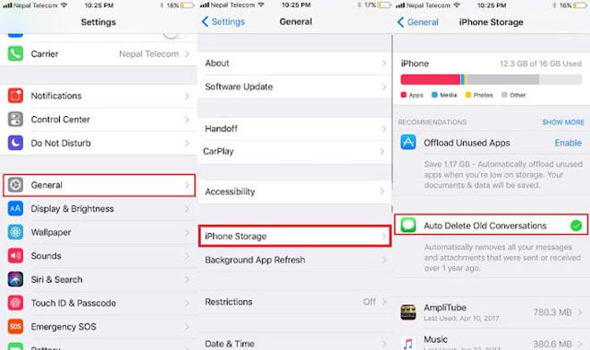 Thủ thuật iOS 11: Thiết lập cho iMessage tự xóa tin nhắn cũ - 2