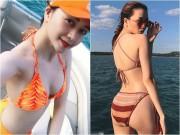 """Phim - Bạn gái Sơn Tùng """"lu mờ"""" trước ảnh bikini quá hot của chị gái"""