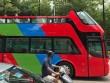 Xe buýt mui trần bất ngờ xuất hiện trên phố Hà Nội