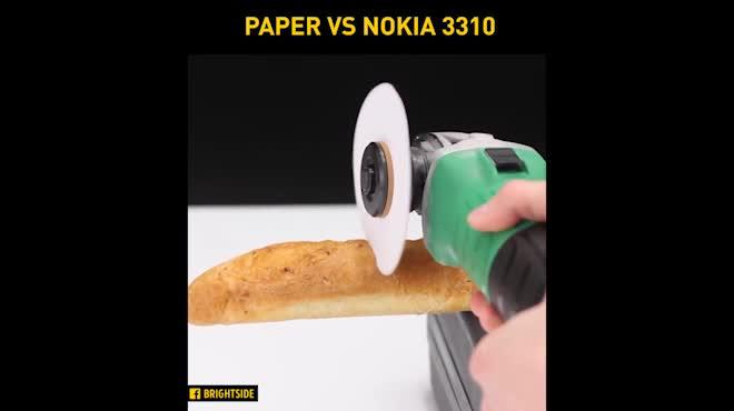 """Xem cưa giấy cho """"huyền thoại"""" Nokia 3310 """"ăn hành"""""""