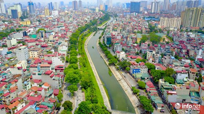"""Cận cảnh những dòng sông """"chết"""" ở Hà Nội sắp được hồi sinh - 1"""