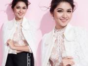 Thời trang - Á hậu Thùy Dung lần đầu mặc áo mỏng tang đầy mới mẻ