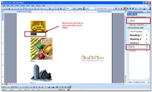 Cách tạo mục lục hình và mục lục bảng trong Word - 2