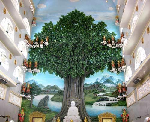 Ngôi chùa có phù điêu đắp nổi cây bồ đề lớn nhất Việt Nam - 1