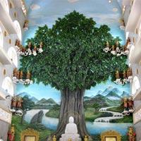 Ngôi chùa có phù điêu đắp nổi cây bồ đề lớn nhất Việt Nam