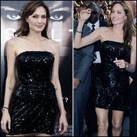 Angelina Jolie diện váy đẹp bên người tình
