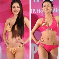 Thí sinh Hoa hậu VN 2010 gợi cảm trong đồ bơi