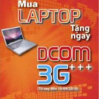 tặng D-com 3G cho các khách hàng mua máy tính xách tay