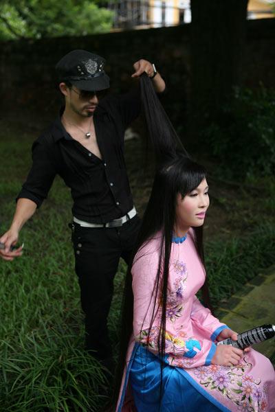 Ngắm nhan sắc có mái tóc dài kỷ lục tại cuộc thi HHTG người Việt - 4