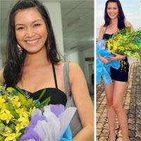 Hoa hậu Thùy Dung khoe chân dài miên man tại Tuần Châu
