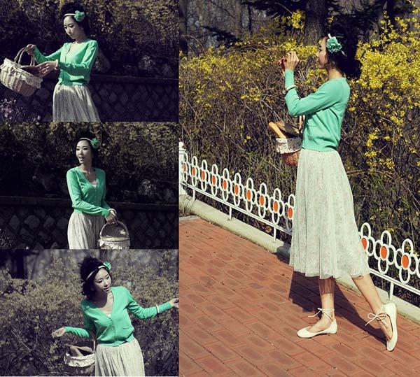 Chọn váy dài cho mùa Thu hiền - 4
