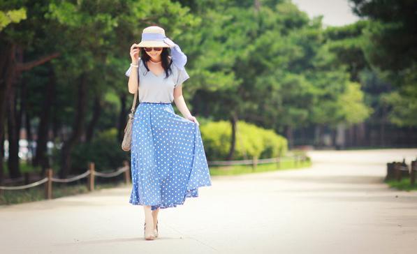 Chọn váy dài cho mùa Thu hiền - 1