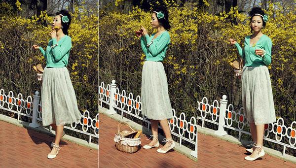 Chọn váy dài cho mùa Thu hiền - 5