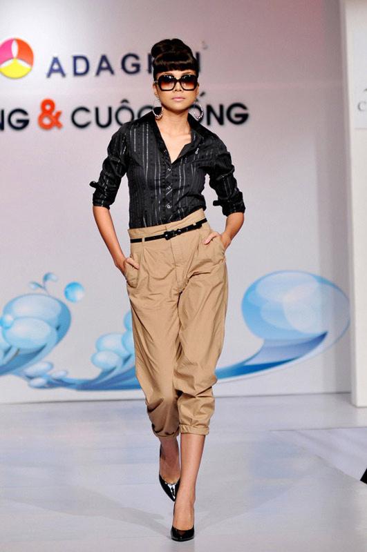 Mặc quần cạp cao để chân dài như Thanh Hằng - 6
