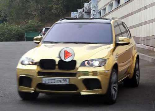 """Siêu xe BMW X5M mạ toàn """"vàng"""" - 1"""
