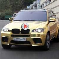 """Siêu xe BMW X5M mạ toàn """"vàng"""""""