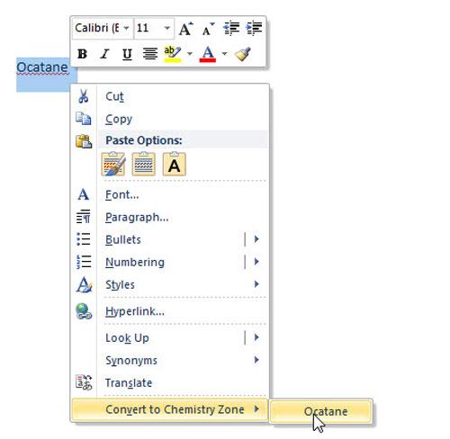 """Thủ thuật hóa học"""" cho Word - 5"""
