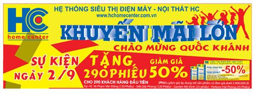 Mừng ngày Quốc Khánh 2-9, Khuyến mãi Lớn tại Siêu thị HC - 2