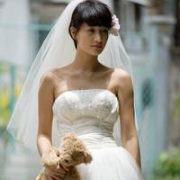 Mặc váy cưới ngắn xinh như Triệu Trang