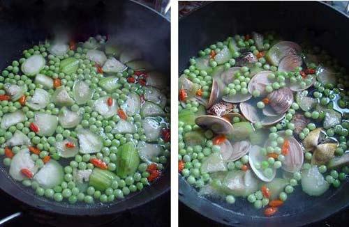 Canh mướp nấu ngao giải nhiệt - 5
