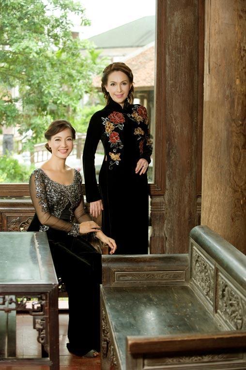 Diễm My và Lê Khanh mặc áo dài mừng đại lễ - 8