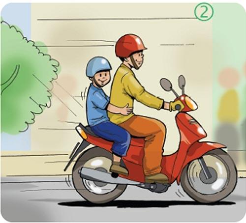 Kỹ thuật chạy xe máy an toàn - 1