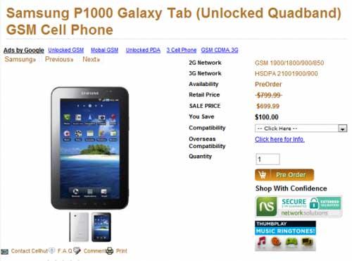 Samsung Galaxy Tab có giá 700 USD - 1