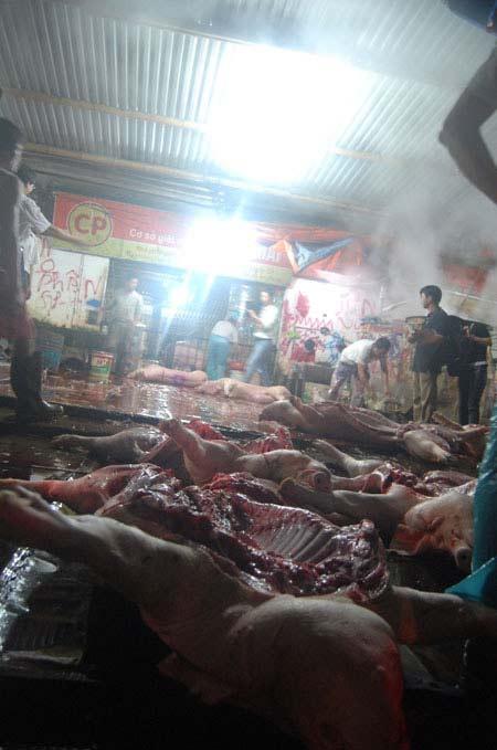 Cận cảnh lò giết mổ lợn giữa Thủ đô - 3