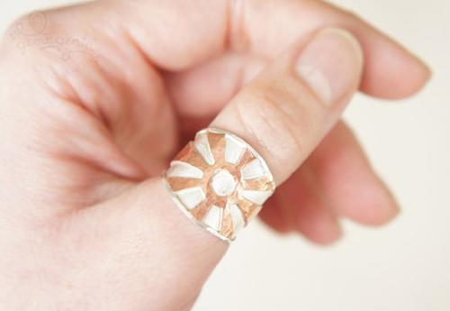 Độc đáo với nhẫn bạc hình học - 2