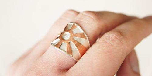 Độc đáo với nhẫn bạc hình học - 4