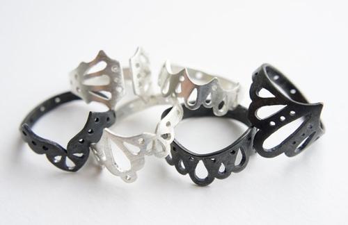 Độc đáo với nhẫn bạc hình học - 6