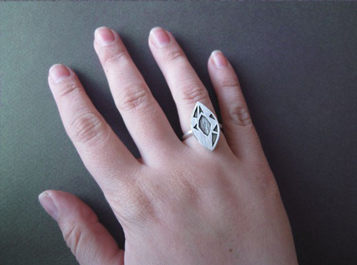 Độc đáo với nhẫn bạc hình học - 13