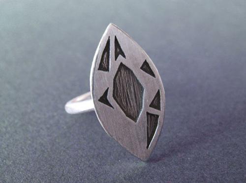 Độc đáo với nhẫn bạc hình học - 10