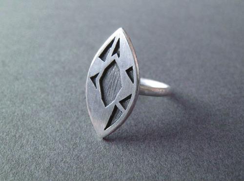 Độc đáo với nhẫn bạc hình học - 12