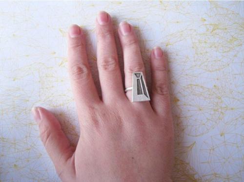 Độc đáo với nhẫn bạc hình học - 17