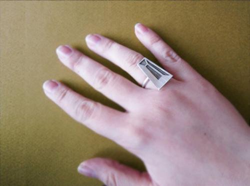 Độc đáo với nhẫn bạc hình học - 18