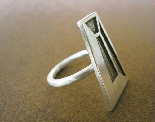 Độc đáo với nhẫn bạc hình học - 16