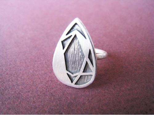 Độc đáo với nhẫn bạc hình học - 26