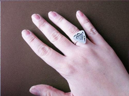 Độc đáo với nhẫn bạc hình học - 27