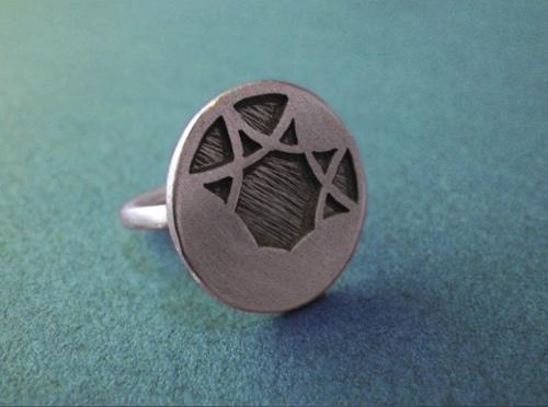 Độc đáo với nhẫn bạc hình học - 1