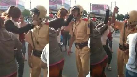 Video: Cô gái tát cảnh sát giữa phố - 1