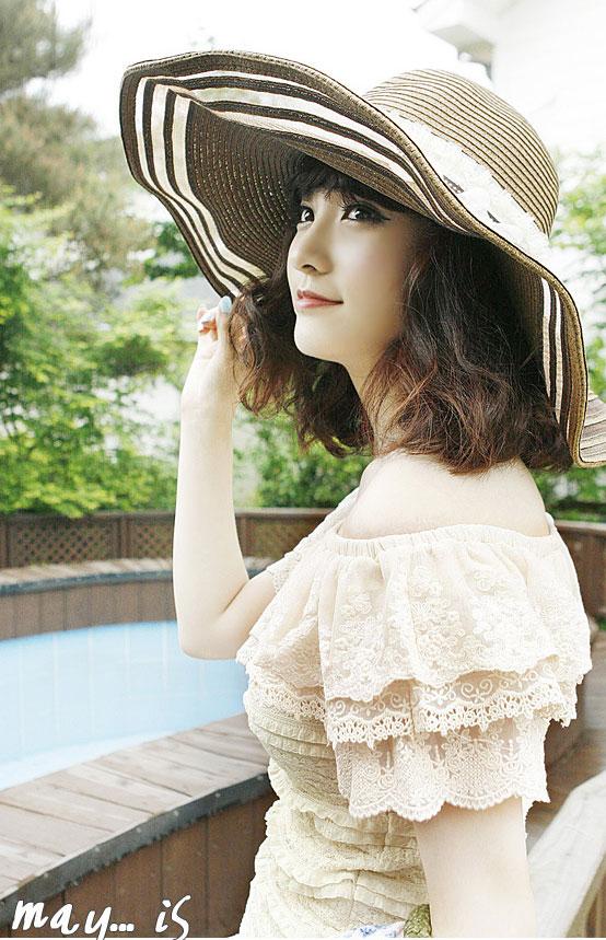 Sắm mũ rộng vành cho thời trang biển - 6