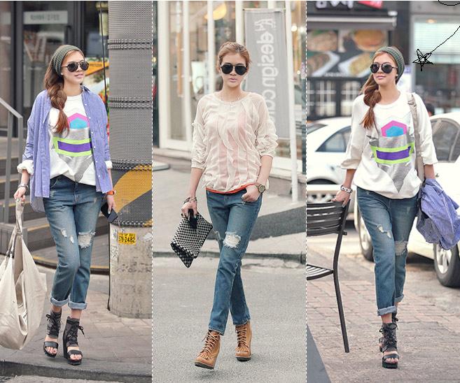 Thấp và nhỏ mặc jeans như thế nào? - 7