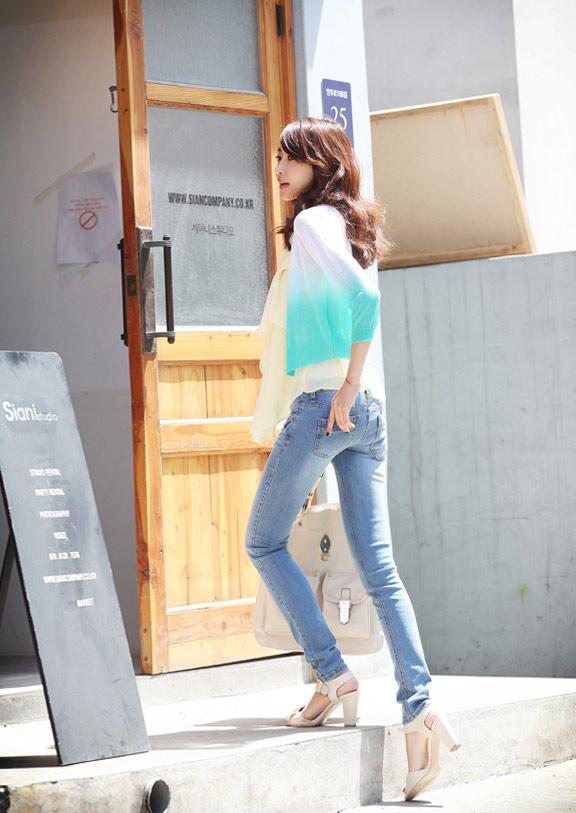 Thấp và nhỏ mặc jeans như thế nào? - 15