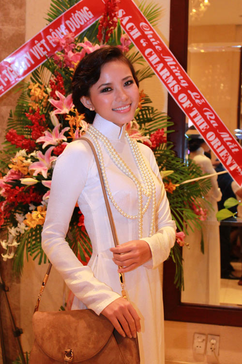 Giai nhân Việt duyên dáng với áo dài - 6