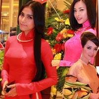 Giai nhân Việt duyên dáng với áo dài